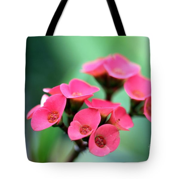 Small Red Flower Tote Bag by Henrik Lehnerer