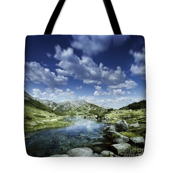 Small Stream In The Mountains Of Pirin Tote Bag by Evgeny Kuklev