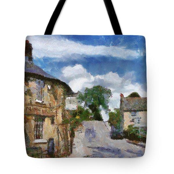Small Town Street Tote Bag by Ayse Deniz
