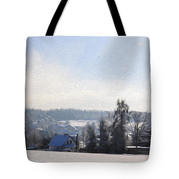 Small Village Tote Bag by Aged Pixel