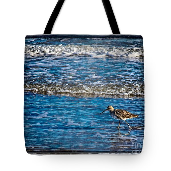 Small Waves Tote Bag by Perry Webster