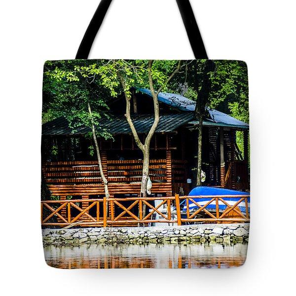 Small Wooden House Tote Bag by Sotiris Filippou