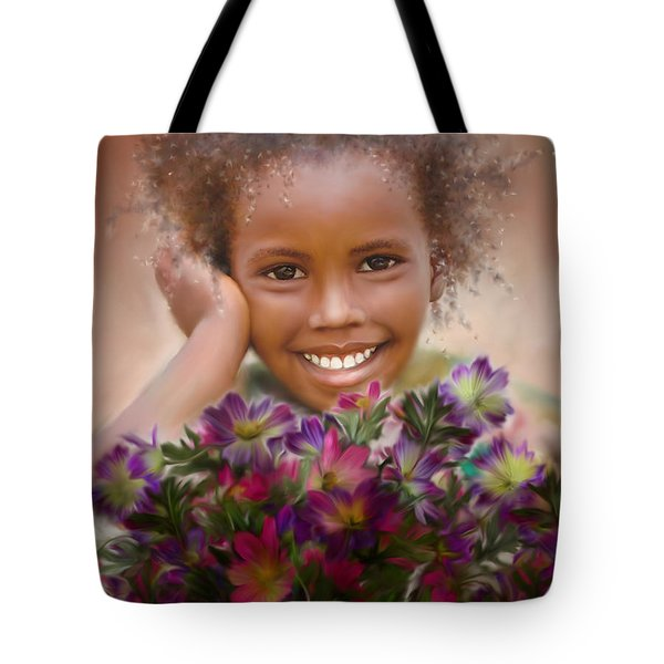 Smile 2 Tote Bag by Kume Bryant