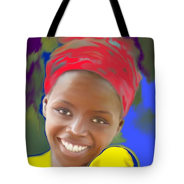 Smile Tote Bag by Kume Bryant