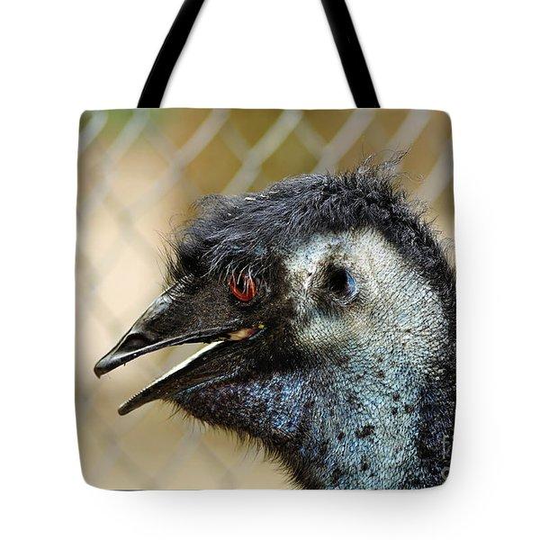 Smiley Face Emu Tote Bag by Kaye Menner