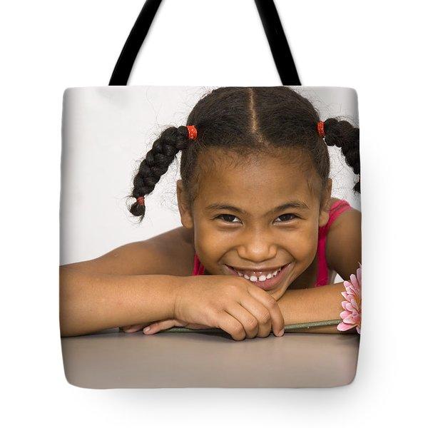 Smiling Pretty Tote Bag by Carolyn Marshall