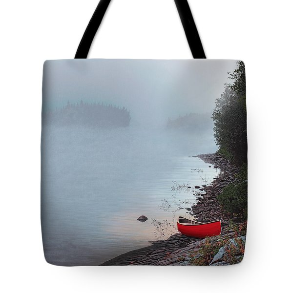 Smoke On The Water Tote Bag by Kenneth M  Kirsch