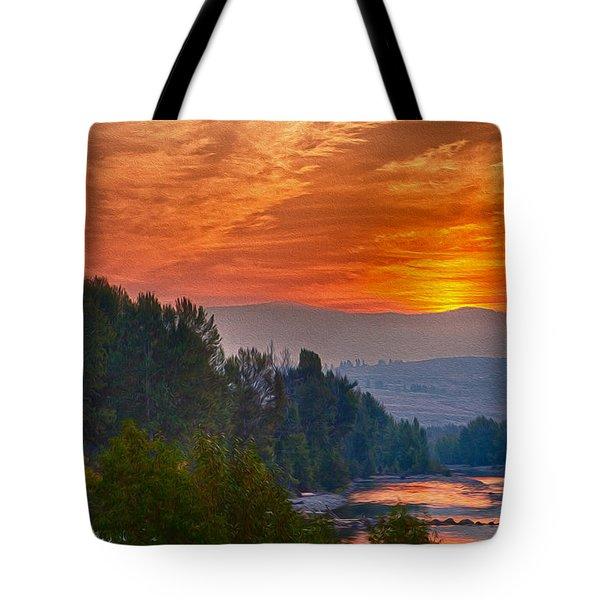 Smoky Brilliance Tote Bag by Omaste Witkowski