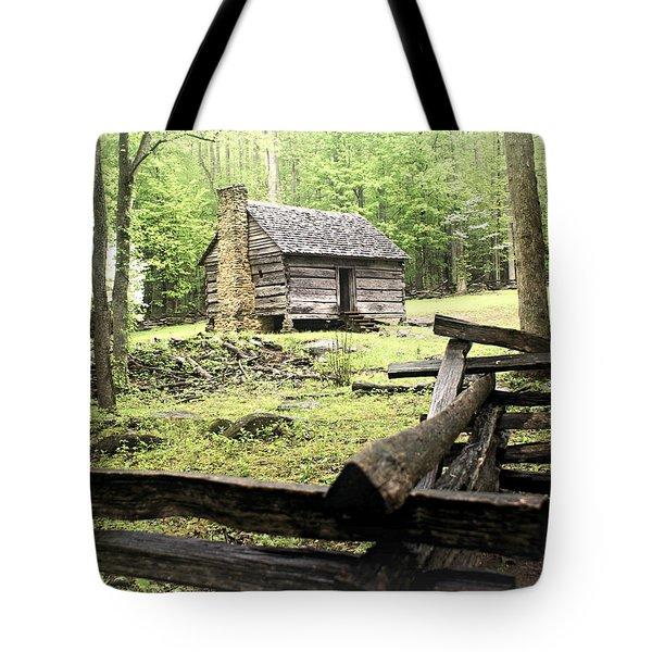 Smoky Homestead Tote Bag by Marty Koch