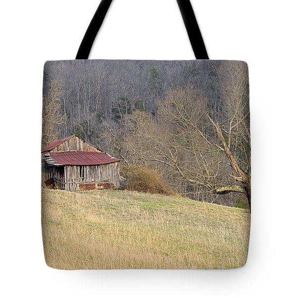 Smoky Mountain Barn 9 Tote Bag by Douglas Barnett