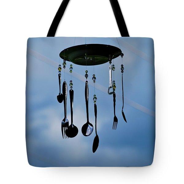Smoky Mountain Windchime Tote Bag by Christi Kraft