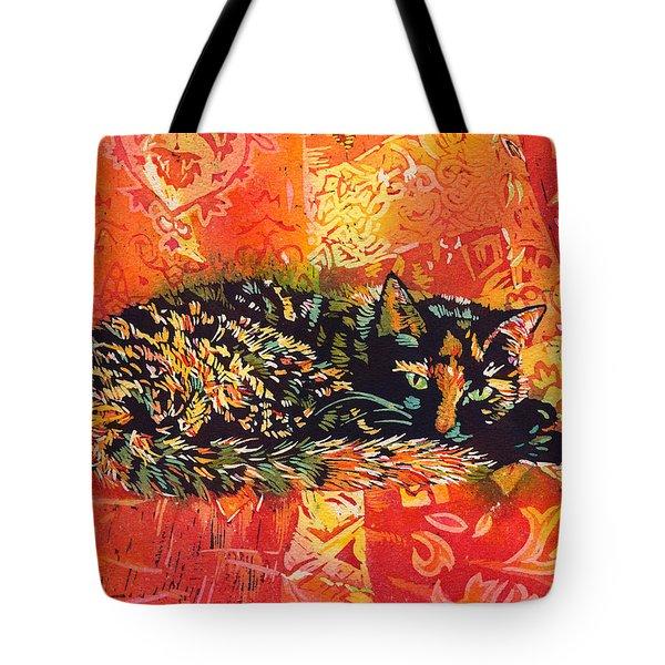 Smudge A Tortoiseshell Cat Tote Bag by Catherine Martha Holmes