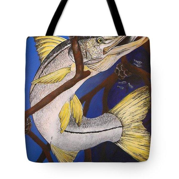 Snook Painting Tote Bag by Lisa Bentley