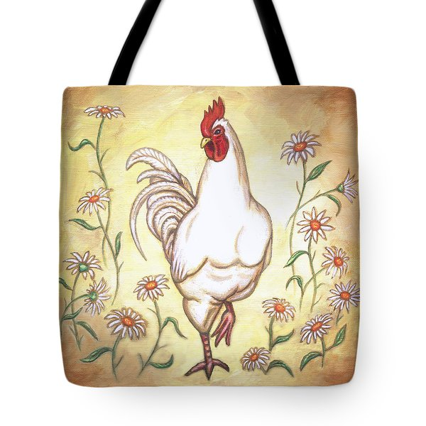 Snooty The Rooster Two Tote Bag by Linda Mears