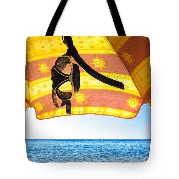 Snorkeling Glasses Tote Bag by Carlos Caetano