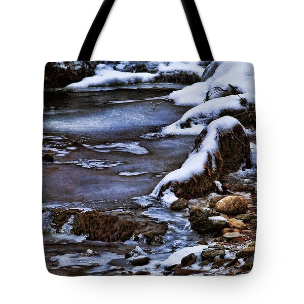 Snow And Ice Water And Rock Tote Bag by Dale Kincaid
