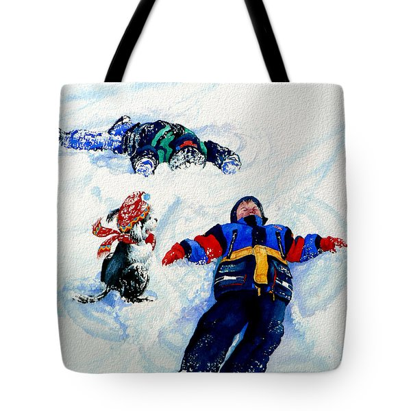 Snow Angels Tote Bag by Hanne Lore Koehler