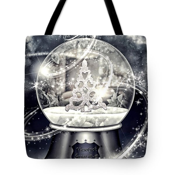 Snow Ball Tote Bag by Mo T