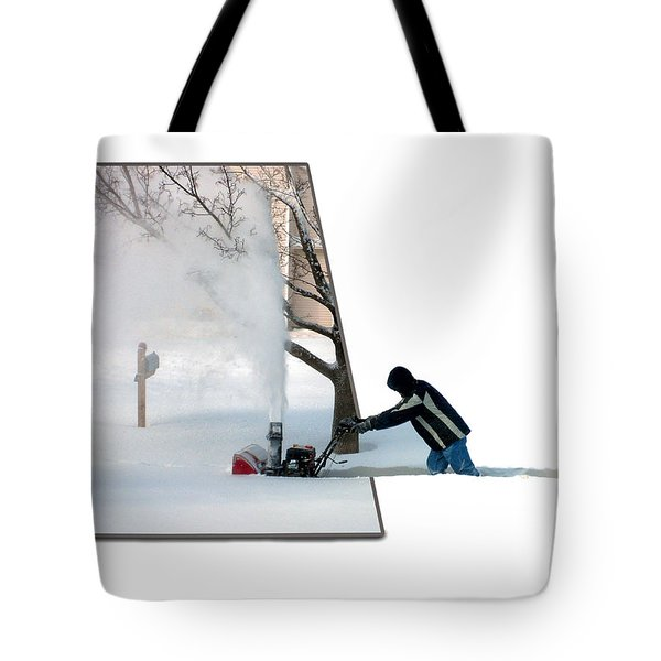 Snow Blower Tote Bag by Thomas Woolworth