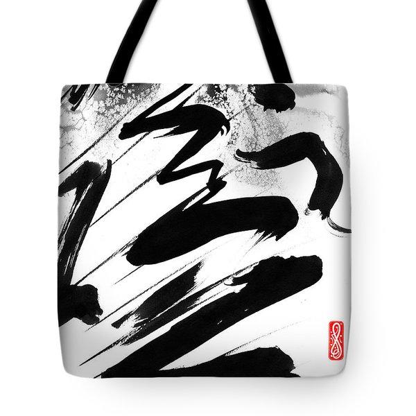 Snow-Clad Mountain Tote Bag by Hakon Soreide