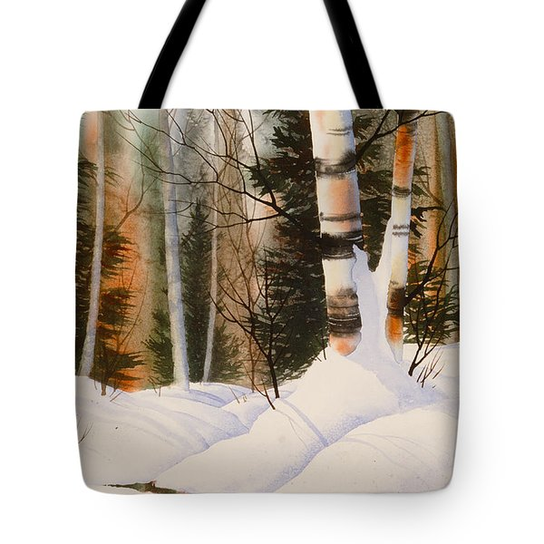 Snow Crevice Tote Bag by Teresa Ascone