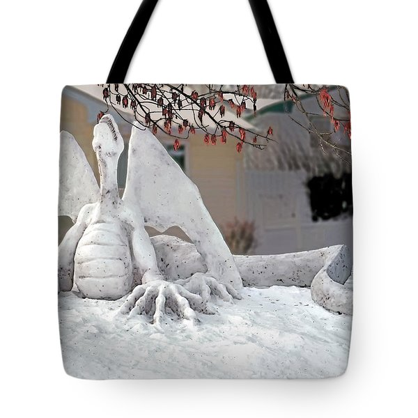 Snow Dragon 3 Tote Bag by Terry Reynoldson