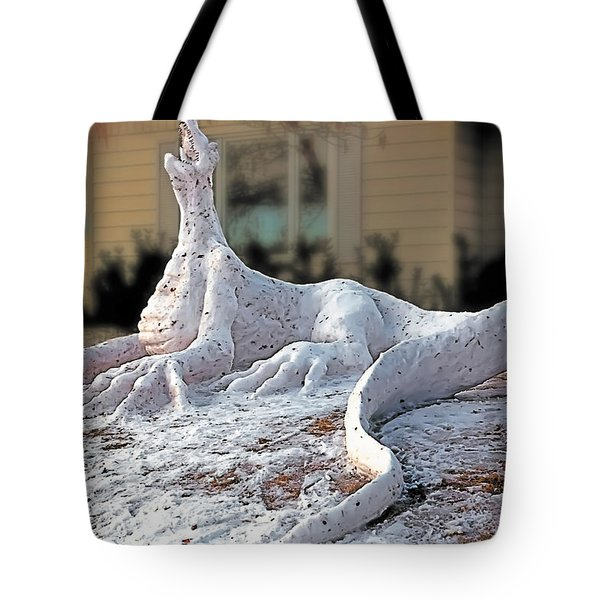 Snow Dragon Tote Bag by Terry Reynoldson