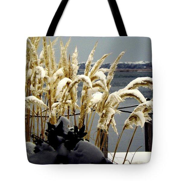 Snow Dust Tote Bag by Karen Wiles