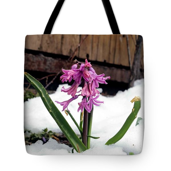 Snow Flower Tote Bag by Fiona Kennard
