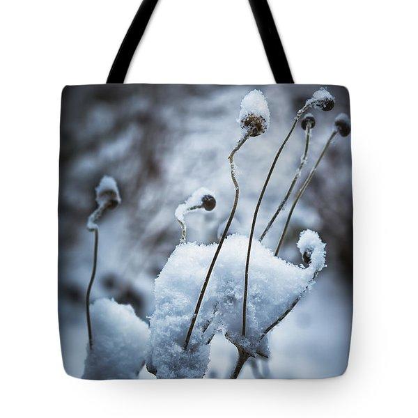 Snow Forms Tote Bag by Belinda Greb