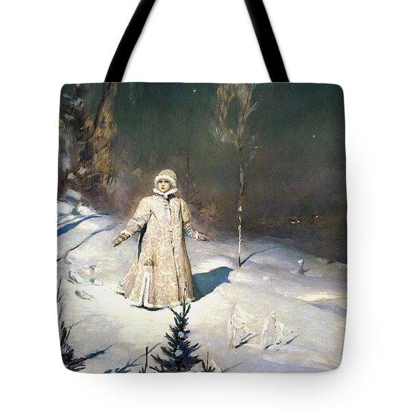 Snow Maiden 1899 By Vasnetsov Tote Bag by Movie Poster Prints