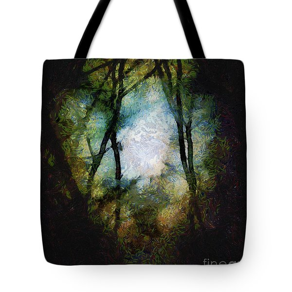 Snow Moon Embrace Tote Bag by RC deWinter