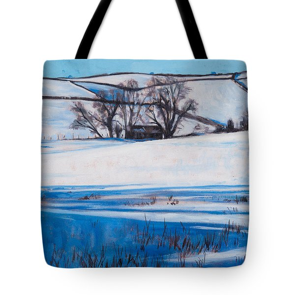Snow Shadows Tote Bag by Tilly Willis