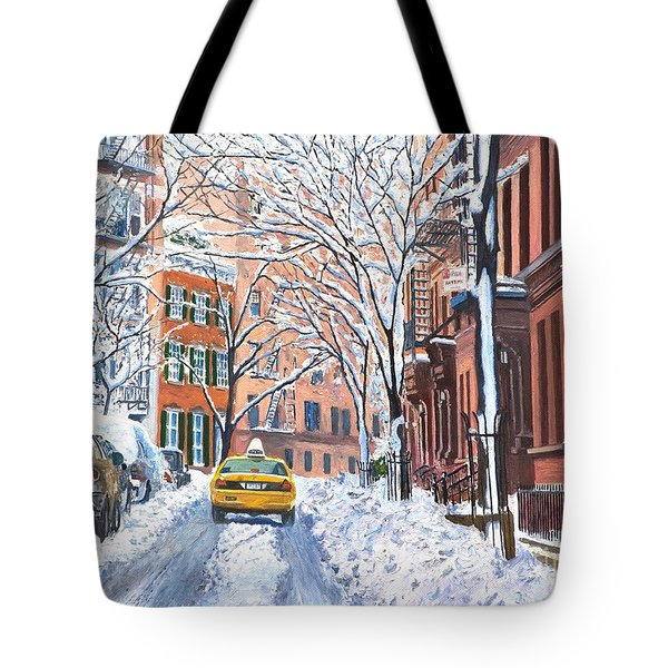 Snow West Village New York City Tote Bag by Anthony Butera