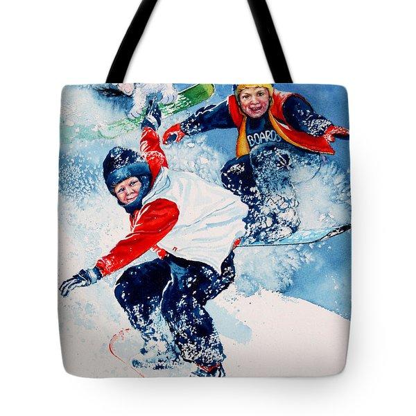Snowboard Super Heroes Tote Bag by Hanne Lore Koehler