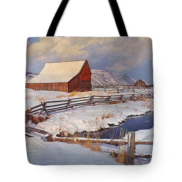 Snowed In Tote Bag by Priscilla Burgers