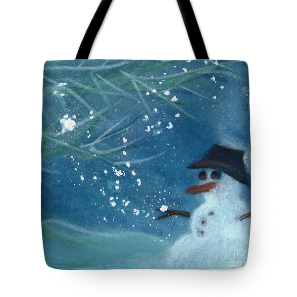 Snowman by jrr Tote Bag by First Star Art