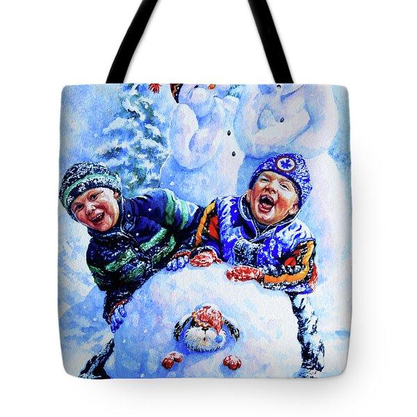 Snowmen Tote Bag by Hanne Lore Koehler