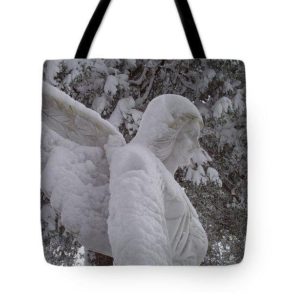 Snowy Angel Tote Bag by Kevin Croitz