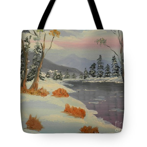 Snowy Day In Europe Tote Bag by Pamela  Meredith