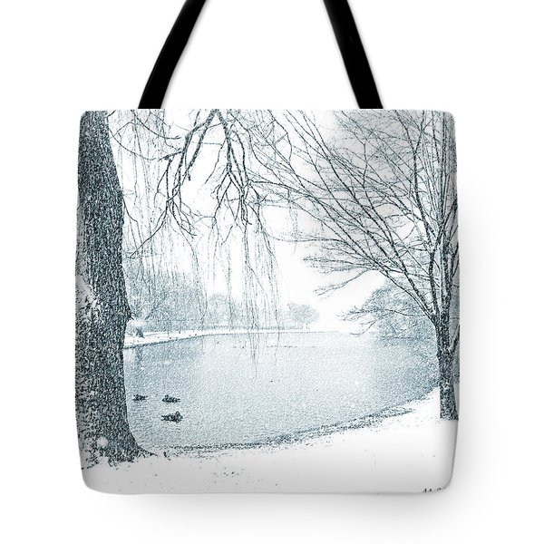 Snowy Day Tote Bag by Mikki Cucuzzo