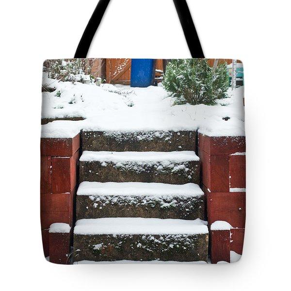 Snowy Garden Tote Bag by Tom Gowanlock