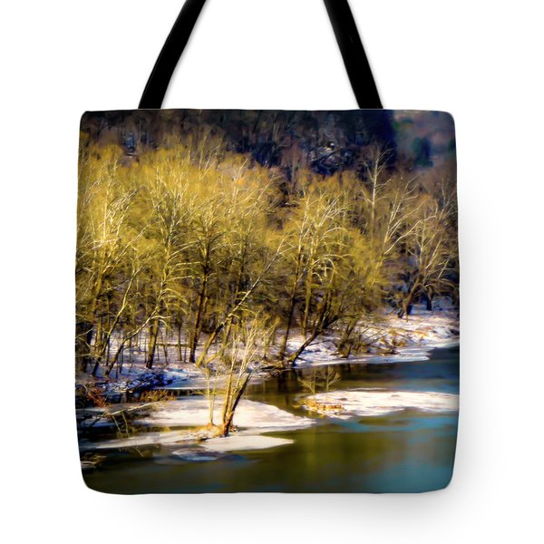 Snowy River Tote Bag by Karen Wiles