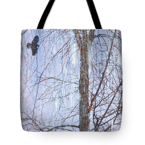 Snowy Tree Tote Bag by Carol Leigh