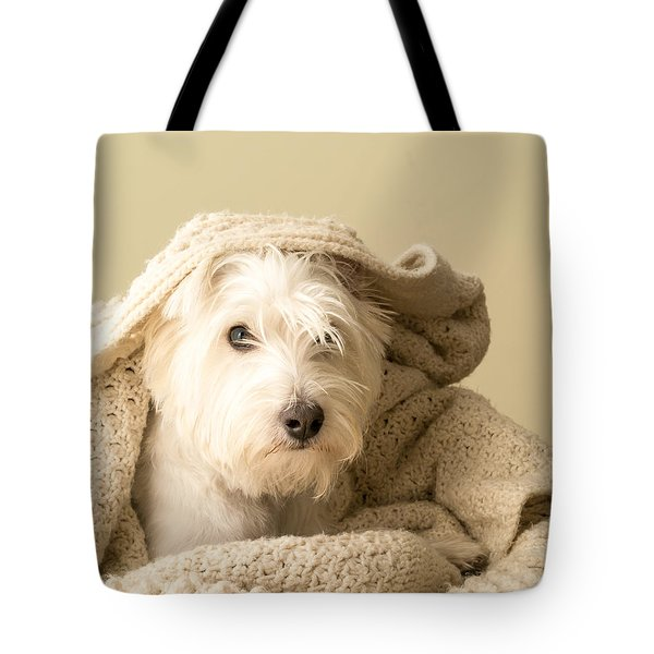 Snuggle Dog Tote Bag by Edward Fielding