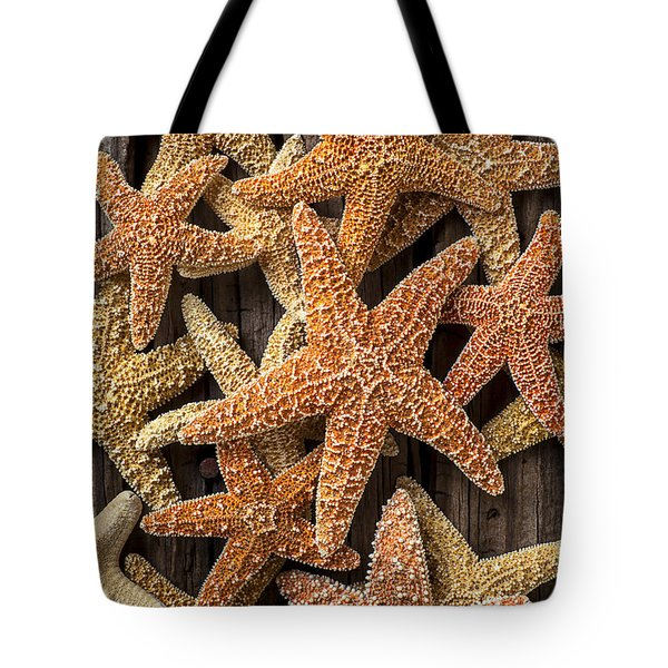 So Many Starfish Tote Bag by Garry Gay
