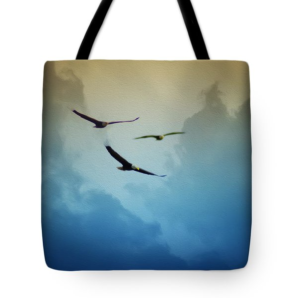 Soaring Eagles Tote Bag by Bill Cannon