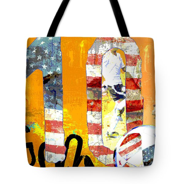 Soccer Americana Wall Decor Tote Bag by Adspice Studios