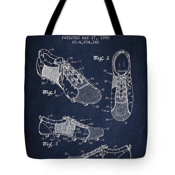 Soccershoe Patent From 1980 Tote Bag by Aged Pixel
