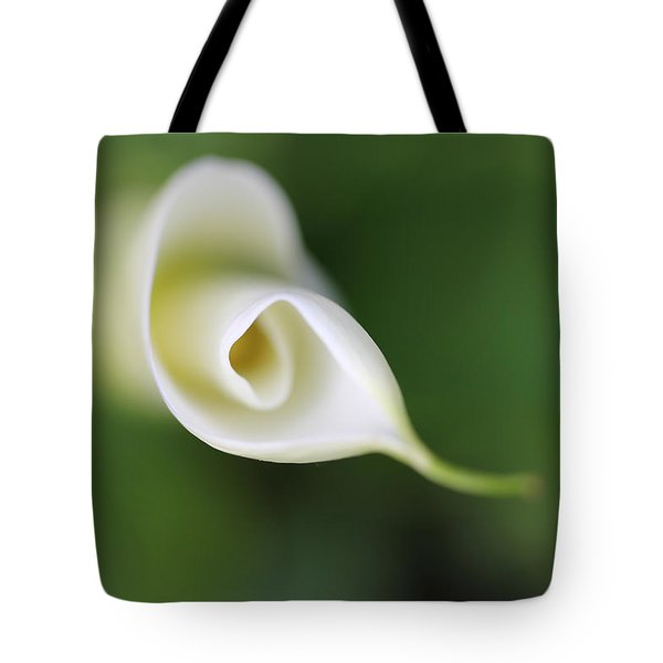 Soft Beginnings Calla Lily Flower Tote Bag by Jennie Marie Schell